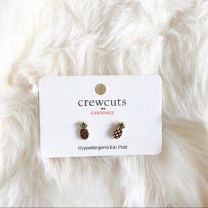 J. Crew Factory Crewcuts Pineapple Stud earrings